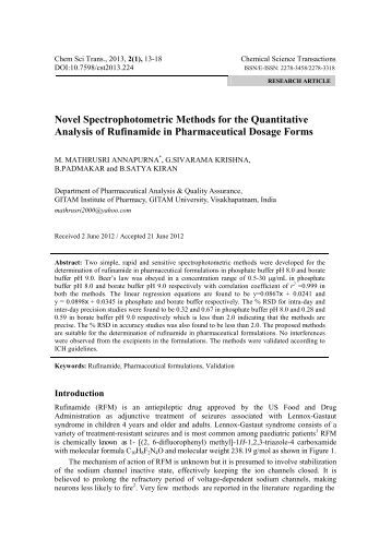 quantitative analysis by spectrophotometric methods Jcps volume 7 issue 3 a simple validated uv spectrophotometric method for  quantitative analysis of sitagliptin phosphate in pharmaceutical dosage form.
