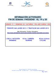 INFORMACIÓN ACTIVIDADES FIN DE SEMANA //WEEKEND 18 19 y 20