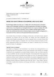 WEINE VON GRAF STEPHAN VON NEIPPERG UND SILVIO DENZ