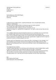 Studentrådet ved NLA Høgskolen i Staffeldtsgate - Velferdstinget i ...