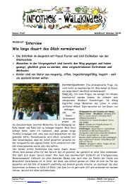 Infothek Waldkinder - Interview - Wie lange dauert das Glück normalerweise? Interview mit der Glücksschule