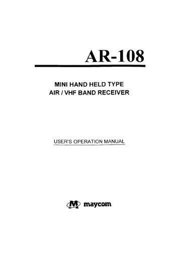 Maycom Ar-108 Manual - Thiecom