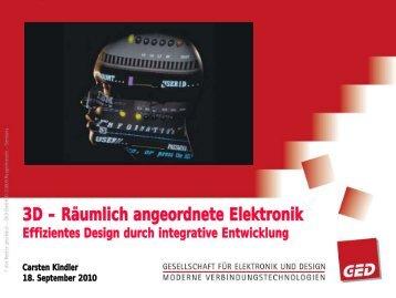 3D Räumlich angeordnete Elektronik - GED-PCB-MCM