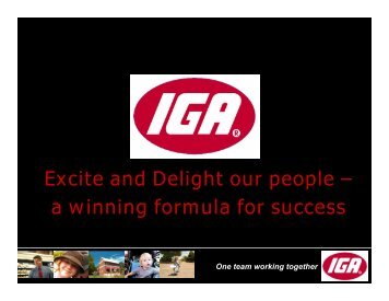 Excite and Delight our people – a winning formula for success