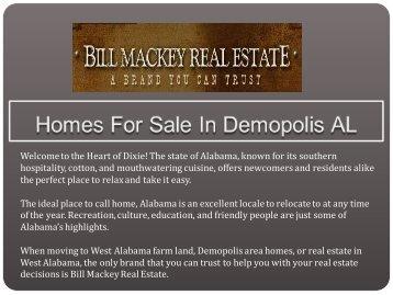 Homes For Sale In Demopolis AL