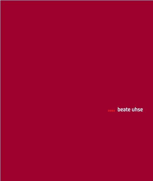 DAS JAHR 2003 - Beate Uhse