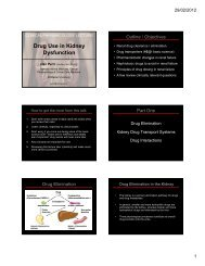 Drug Use in Kidney Dysfunction