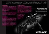 Gebrauchsanleitung Instruction manual Consignes d ... - Blaser
