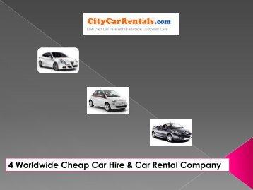 4 Worldwide Cheap Car Hire & Car RentalCompany