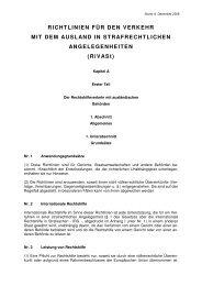 RiVASt Stand 15 Oktober 2008 - Bundesministerium der Justiz