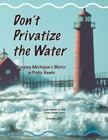 Privatize the Water