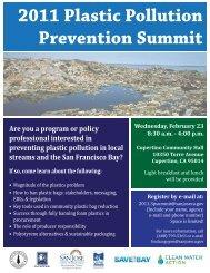 2011 Plastic Pollution Prevention Summit