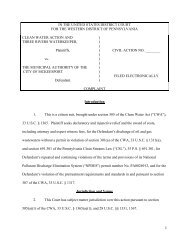 Download the legal filing - Clean Water Action