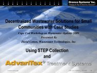 Decentralized Wastewater Systems - Clean Water Action