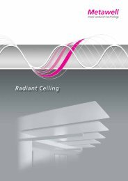 Radiant ceiling brochure - Metawell