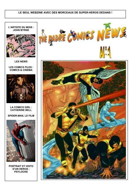 le seul webzine avec des morceaux de super-heros dedans - Free