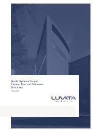 Nordic Systems Copper Facade, Roof and Rainwater ... - Grande