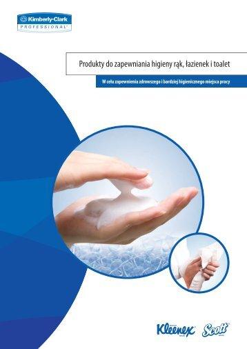Produkty do zapewniania higieny rąk łazienek i toalet