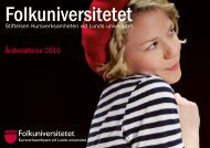 Personalutbildning 2010 - Folkuniversitetet
