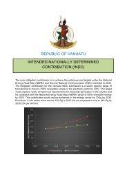 REPUBLIC OF VANUATU INTENDED NATIONALLY DETERMINED CONTRIBUTION (INDC)