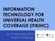 TECHNOLOGY FOR UNIVERSAL HEALTH COVERAGE (IT4UHC)