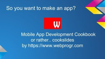 Mobile App Development Cookbook