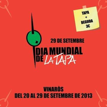 VINARÒS DEL 20 AL 29 DE SETEMBRE DE 2013