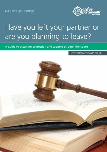 Have you left your partner or are you planning to leave?