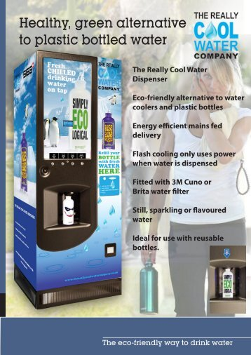 Healthy green alternative to plastic bottled water