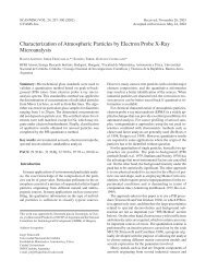 Characterization of Atmospheric Particles by Electron Probe X-Ray ...