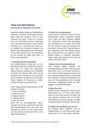 Tipps zum Sprit-Sparen - ADAC Fahrsicherheit GmbH