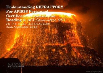 Understanding Refractory API 936 Reading IV