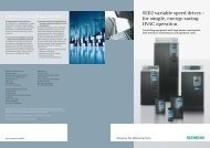 SED2 variable speed drives – for simple energy-saving HVAC operation