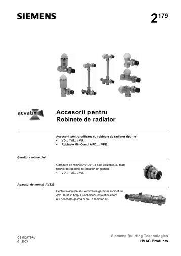 Accesorii pentru Robinete de radiator