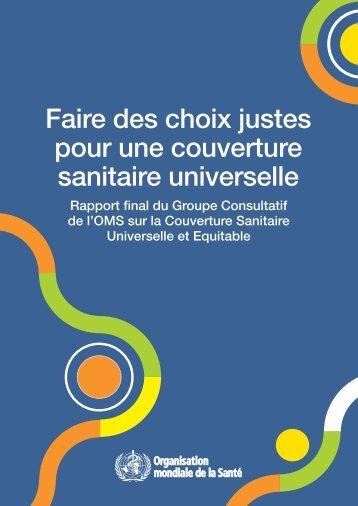 Faire des choix justes pour une couverture sanitaire universelle