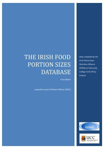 THE IRISH FOOD PORTION SIZES DATABASE