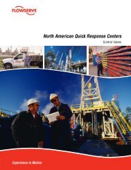 North American Quick Response Centers - Flowserve Corporation