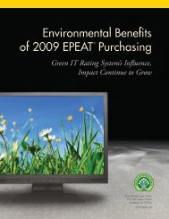 Environmental Benefits of 2009 Purchasing
