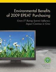Environmental Benefits of 2009 Purchasing