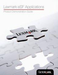Lexmark eSF Applications