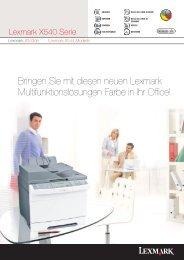 Bringen Sie mit diesen neuen Lexmark Multifunktionslösungen ...