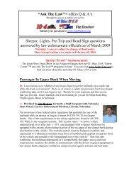 DOT Extra Light Enforcement -- Pre-Trip Inspection - Ol'Blue, USA