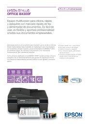 Descargar catálogo de la Epson Stylus Office BX300F