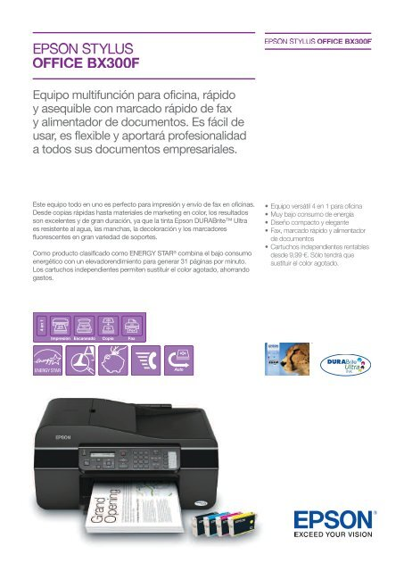 STYLUS TÉLÉCHARGER OFFICE BX300F EPSON