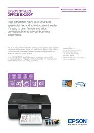 Fast, affordable office all-in-one with speed-dial fax ... - Epson Europe