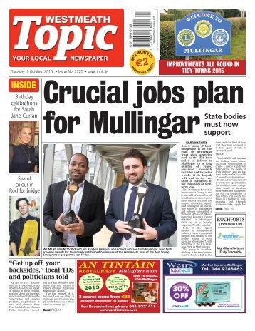 Westmeath Topic- 1 October 2015