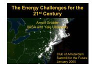 The Energy Challenges for the 21 Century