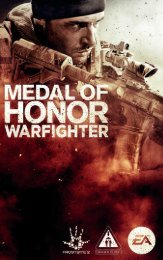 EA Games Medal of Honor Warfighter - medal-of-honor-warfighter-manuals