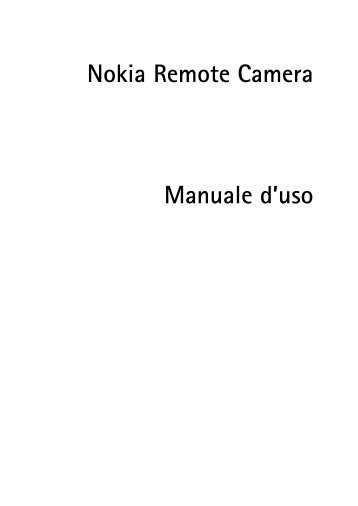 Nokia Remote Camera PT-6 - Manuale duso del {0}