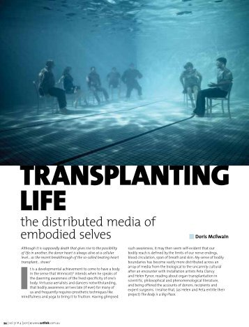 TRANSPLANTING LIFE